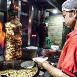 chicken shawarma in the making