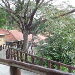 Walkway outside our villa