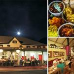 Our restaurant from outside,inside and our tasting platter