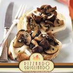 crostini mozzarella e funghi