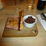 Game terrine with homemade bread and onion relish