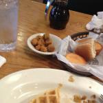 Waffles, fried Okra, cornbread and delicious SOUP - SES
