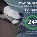 Parking Valet Stationnement 24$