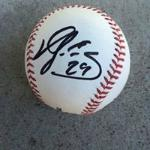 Hector Sanchez signed ball