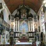 The main altar with the 13th cent statue