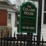 The sign in front of the Collins House Inn!