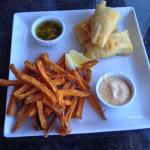 Halibut with Sweet Potato Frites -  $16 is too Pricey