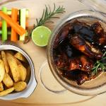 chicken ribs with barbecue sauce!!!