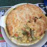 The jumbo pot pie - enough for two meals!