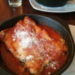Spinach, ricotta and olive canneloni