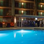 Poolside Bar and Pool at Night