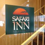 Safari Inn key card entrances with covered parking