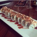 The Armageddon Roll. Chef Oliver prepared it fresh instead of tempura for me - I was a very happ