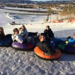 Our teens tubing Fraser hill