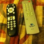 One remote for the TV, one remote for the cable box...