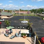 View of the parking lot, which is carefully excluded from the hotel's images on their web site.