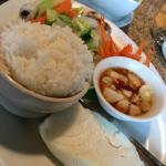 Sea bass and veggies