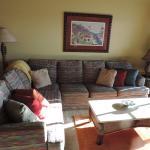 the comfy living room