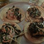 Shrimp tacos.... Yummm... Must order again...
