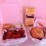 Mini Philly & 1/2 dozen hot wings!