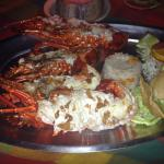 Langosta platter (lobster), you get 2 huge lobster tails with a flavor out of this world, awesom