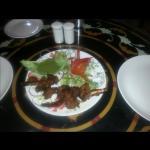 Roasted and vegetarian food. ...