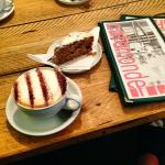 Coffee and cake, Cafe Monde, Southampton