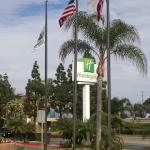Motel Sign with Flags