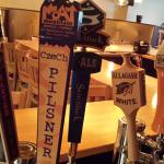 We offer 6 New England craft beers on tap.  Tap list changes seasonally.