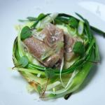 Smoked Eel, Baby leeks & Crème fraîche Potato