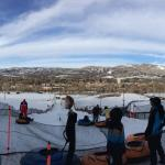 Top of the ski-tubing hill.  What a view!