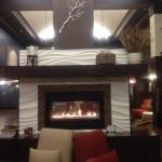 We were drawn to fireplace seating. Relaxing spot. Piano playing in background.