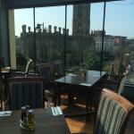 The terrace boasts stunning views