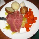 St Patrick's Day corned beef dinner