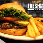 We have recreated all our burgers! Made fresh with a specialty bun made just for us!