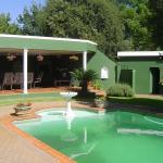 Across the pool