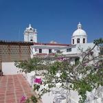 Desde la terraza del tercer piso hacia la Catedral de Santa Marta