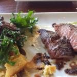Flat Iron Steak with Crispy Polenta