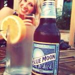 •Classic blue moon on a Spring evening on the patio•