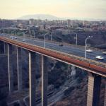 Davtashen bridge in Yerevan over the Hrazdan river gorge