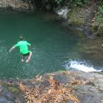 Jumping into the lower pool