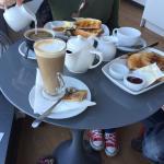 Tea, Americano, Skinny Latte and Toast - a perfect morning!