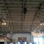The famous chandelier and garage ceiling overhead ... Cello music playing in the background...