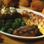 Petite Sirloin and Shrimp combo, one of our many combo choices!