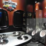 Spiffy men's washroom
