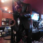 Sax manikin at front bar