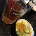 ice tea and salad❤