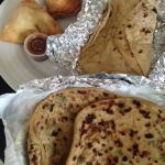 Breads and samosas