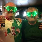 Paul and Gerry Reynolds celebrating St Patrick's Day 2015