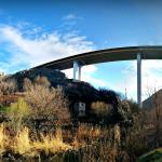 View of Davtashen Bridge from Hrazdan Riverbank Road